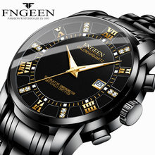 Nowy męski kalendarz moda Casual zegarek biznesowy ultra-cienki wodoodporny transgraniczny Model wybuchu czarna stal kompania kwarcowy zegarek