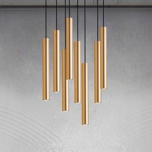 Image 3 - [DBF]LED moderne suspension longue tube noir suspension lampe île barre pays boutique chambre cuisine luminaires lampe à suspension luminaire