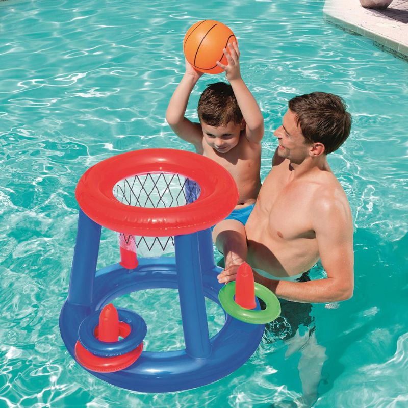 Water Sports Game Multi-function Inflatable Floating Basketball Stand Children Swimming Pool Toys 72XC