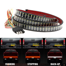 "Niscarda 60 ""Truck Achterklep Led Strip Licht Bar Triple Rij 5-Functie Met Reverse Brake Richtingaanwijzer Voor jeep Pickup Suv Dodge(China)"