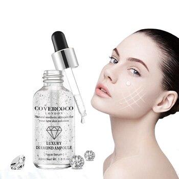 24K Gold Hyaluronic Acid Face Serum Replenishment Moisturize Shrink Pore Brighten Skin Lift Firming Essence