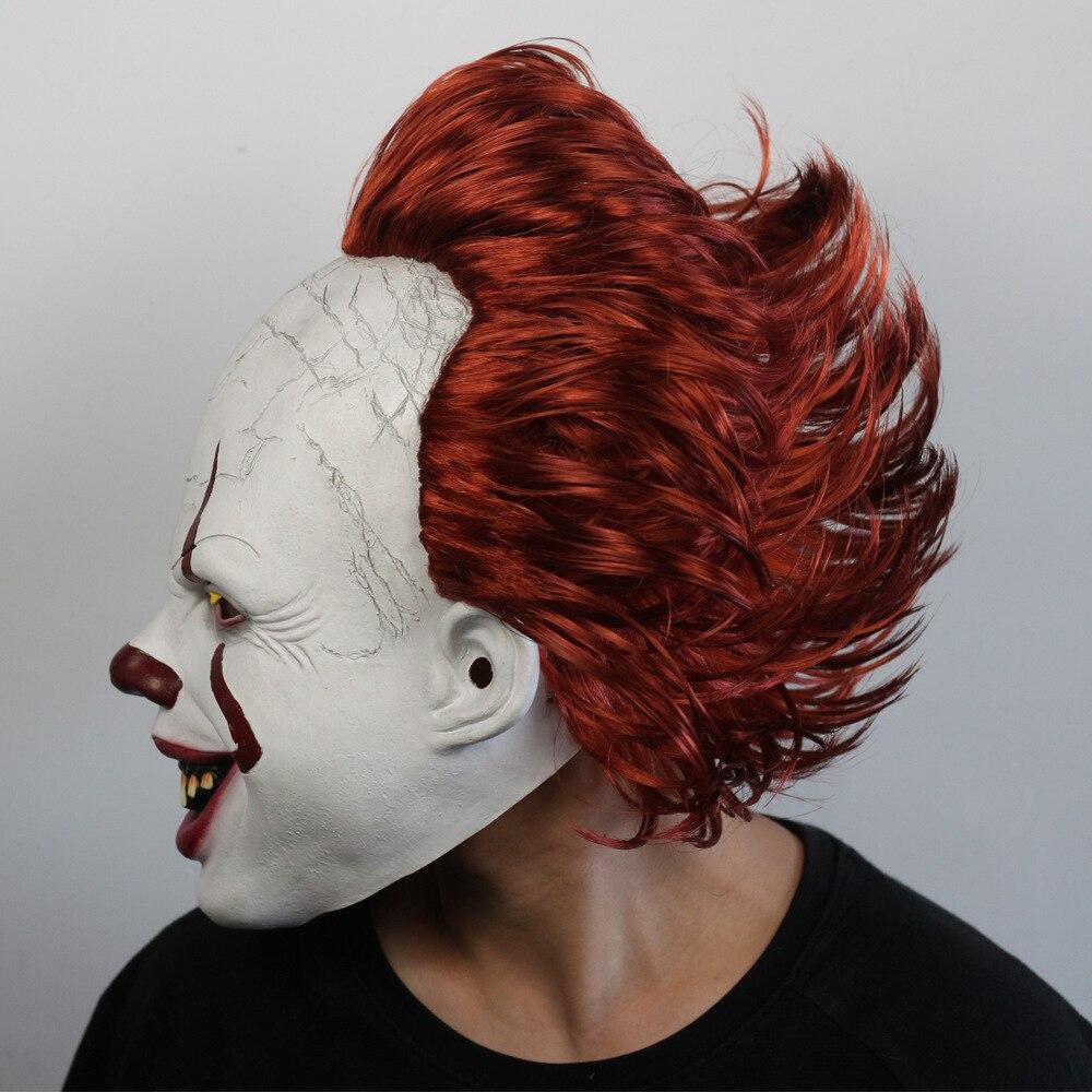 Image 4 - Джокер Pennywise светодиодная маска Хэллоуин маска для вечеринки Костюм Опора Маска ужаса латексная страшная для вечеринки реквизит маска на Хэллоуин-in Маски для вечеринки from Дом и животные