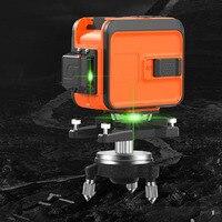 3 draht 3D Fadenkreuz Laser Level Self Balancing 360 Vertikale Und Horizontale Laser Strahl Linie Wand Werkzeug Outdoor empfänger Ebene-in Lasernivellierer aus Werkzeug bei