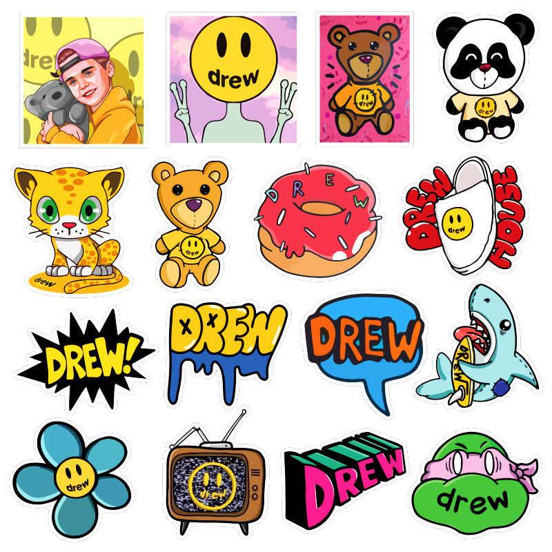 Lote de 50 Uds de pegatinas de anime de cantante Justin Bieber Drewhouse para PC, Maleta, portátil, de estilismo de motocicleta, pegatinas de dibujos animados geniales