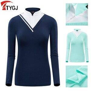 PGM Mujeres Golf camisa Ropa mujeres T camisa de manga de protección solar Ropa de Golf Ropa de tenis de mesa de camisa