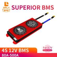 Daly módulo de protección de carga de celda, batería de litio de iones de litio de 3,7 V, 4S, 12V, 80A, 100A, 150A, 200A, 300A, 500A, placa PCB, BMS, 18650 V