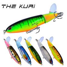 THEKUAI Fishing Lure Pencil Propeller Tractor Hard Artificial Bait Minnow Crankbait Pesca Tackle Hook 110mm 15g 30g 1pcs