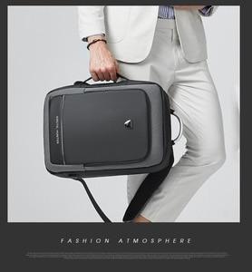 Image 5 - ARCTIC HUNTER 40L Large Capacity Mens Expandable Backpacks USB Charging Male 17 inch Laptop Bags Waterproof Business Travel Bag