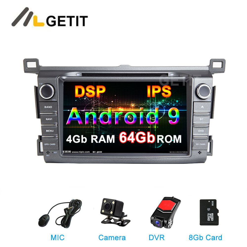 64G DSP Android 9.0 Car DVD Player stereo for Toyota RAV4 RAV 4 2013 2017 with Wifi BT Radio GPS