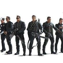 NECA Terminator 2 Action FIGURE T 800 / T 1000 PVC Action FIGUREของเล่นชุดของเล่น 7 ประเภท 18 ซม.