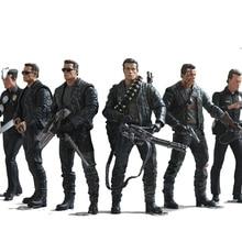 NECA Terminator 2 aksiyon figürü T 800 / T 1000 PVC Action Figure oyuncak Model oyuncak 7 türleri 18cm