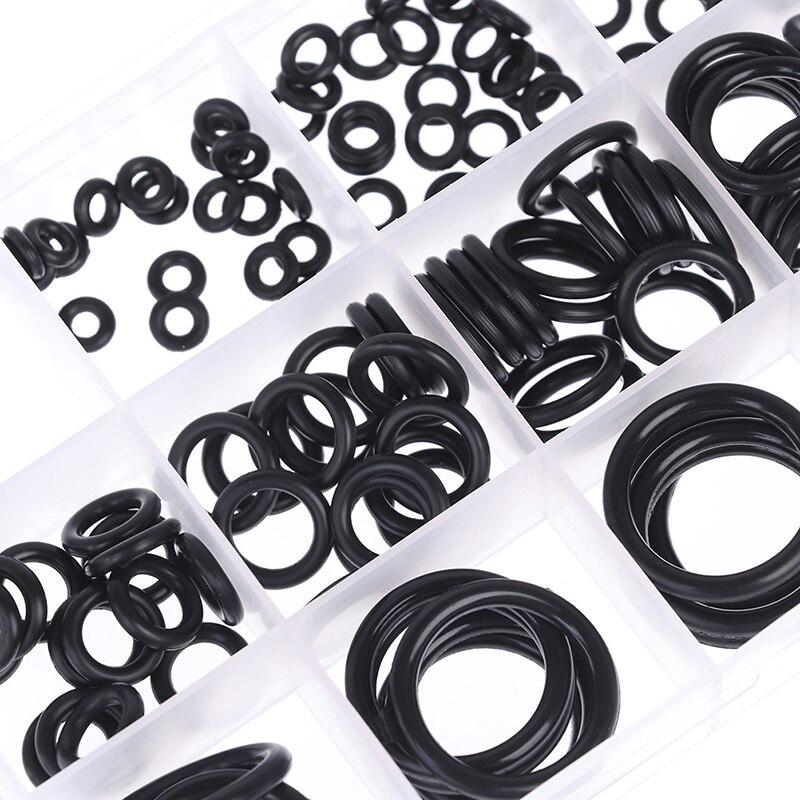 200Pcs Rubber O-Ring Washer Assortment Set Hydraulic Plumbing Gasket Seal Kit