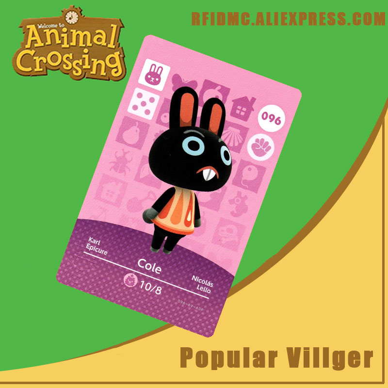 096 Cole Animal Crossing Card Amiibo For New Horizons