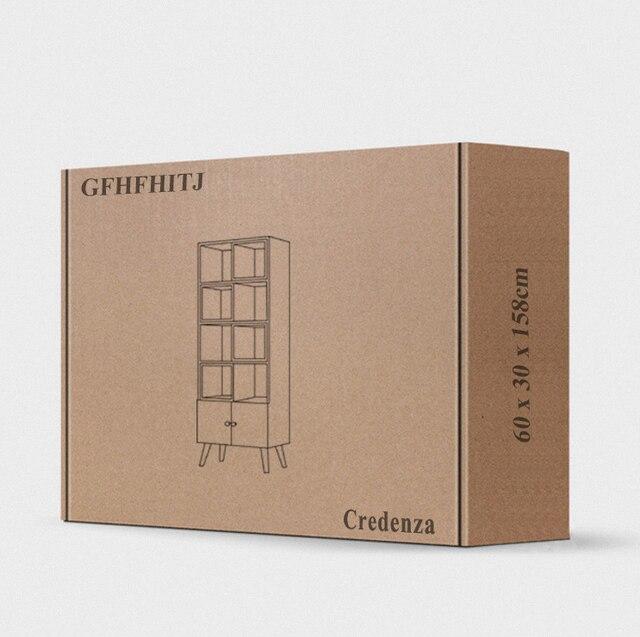 Credenza Side Corner Storage Cabinet  5