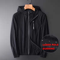 OLN Hooded Men Jackets Plus Size 4xl Laser Hole Burning Mens Jackets And Coats Luxury Slim Fit Solid Color Jackets For Men