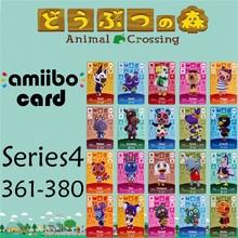 Пересечение животных подлинных данных новые горизонты игры Марио карты для NS переключатель 3DS игра набор NFC карт Series4 361-380 матовый материал