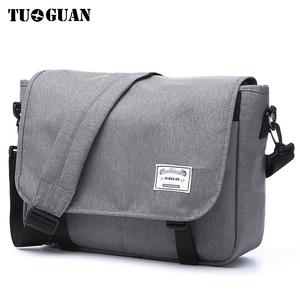 Image 1 - TUGUAN Men Messenger Bags Mens Fashion Business Travel Shoulder Bags female Canvas Briefcase Men Crossbody Bag Handbag XB1701T