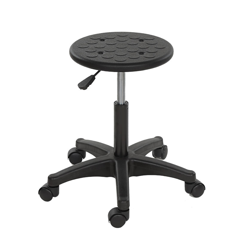 Lab Anti-static Lifting Work Round Stool Bar Chair Electronics Factory Production Workshop Assembly Line Pulley Stool