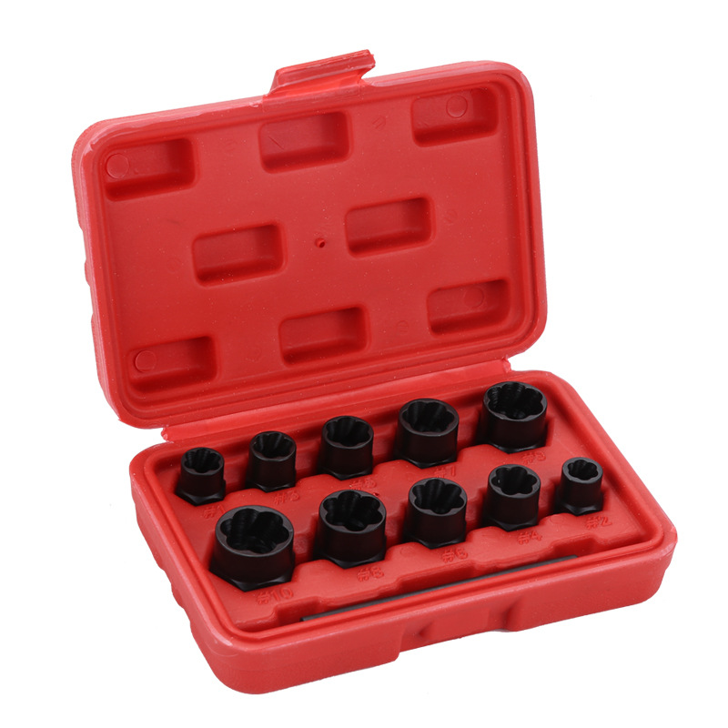 New Hot Damaged Lug Nut Bolts Removal Set Screw Extractor Tool Twists Socket Kit Lock Remover