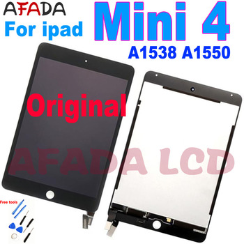 Original For ipad mini 4 Lcd Screen For ipad mini4 A1538 A1550 EMC 2815 EMC 2824 lcd Display Touch Screen Assembly new brand tested for ipad mini 4 lcd a1538 a1550 display screen with touch screen digitizer assembly 1pcs 7 9 inch replacement