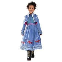 Международная торговля, детская одежда, нарядное платье принцессы Анны на Хэллоуин, вечерняя косплей одежда пальто с длинными рукавами +