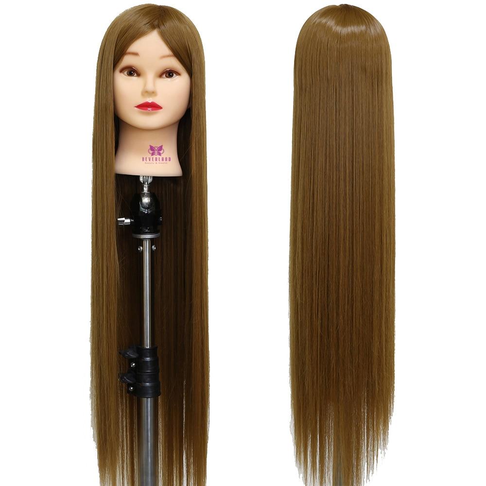 NEVERLAND 30 ''75 см длинные толстые волоски тренировка голова для обучения парикмахерский стиль синтез тренировка манекен голова куклы