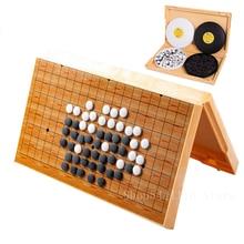 Nouvelle Table pliante magnétique aller jeu d'échecs jeu de société chinois Weiqi dames Gobang magnétisme aller jeu enfants jouet cadeau