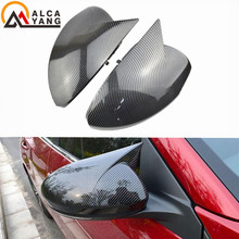 цена на Carbon Fiber Look Car Side Wing Rearview Cap Case Mirror Cover Shell Replacement For Nissan Sylphy Sentra B18 2020