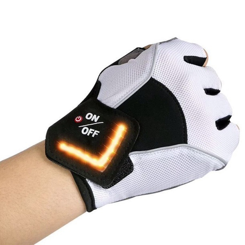 Cycling <font><b>Gloves</b></font> Intelligent <font><b>Led</b></font> Turn Automatic Induction Turn Signal <font><b>Gloves</b></font> Warning Light <font><b>Gloves</b></font> Outdoor Riding <font><b>Gloves</b></font> <font><b>Bicycle</b></font> Cy image