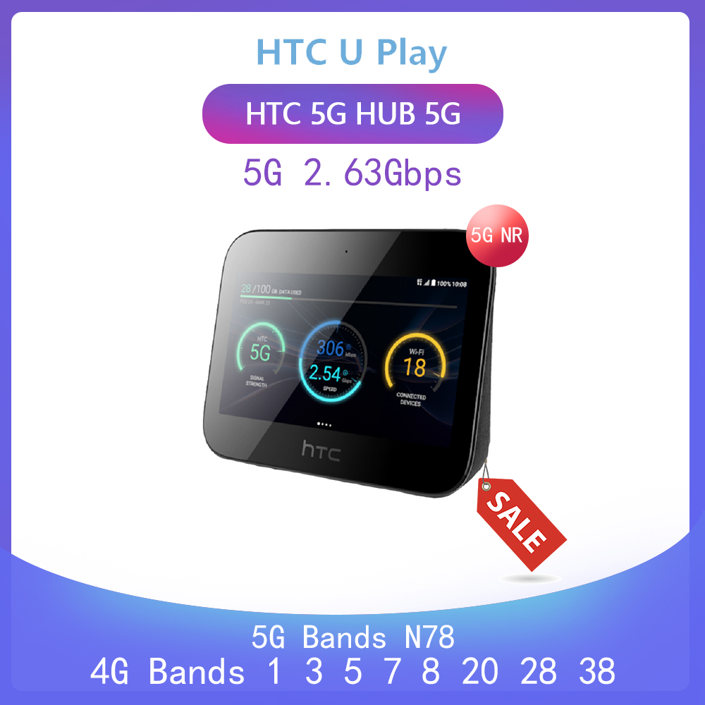 Unlocked HTC 5G Hub 5G router Android tm9Pie wifi802.11ad 7660mAh battery 5g n78 2.63gbps 4G Lte Bands1 <font><b>3</b></font> 5 <font><b>7</b></font> 8 20 <font><b>28</b></font> 38 image