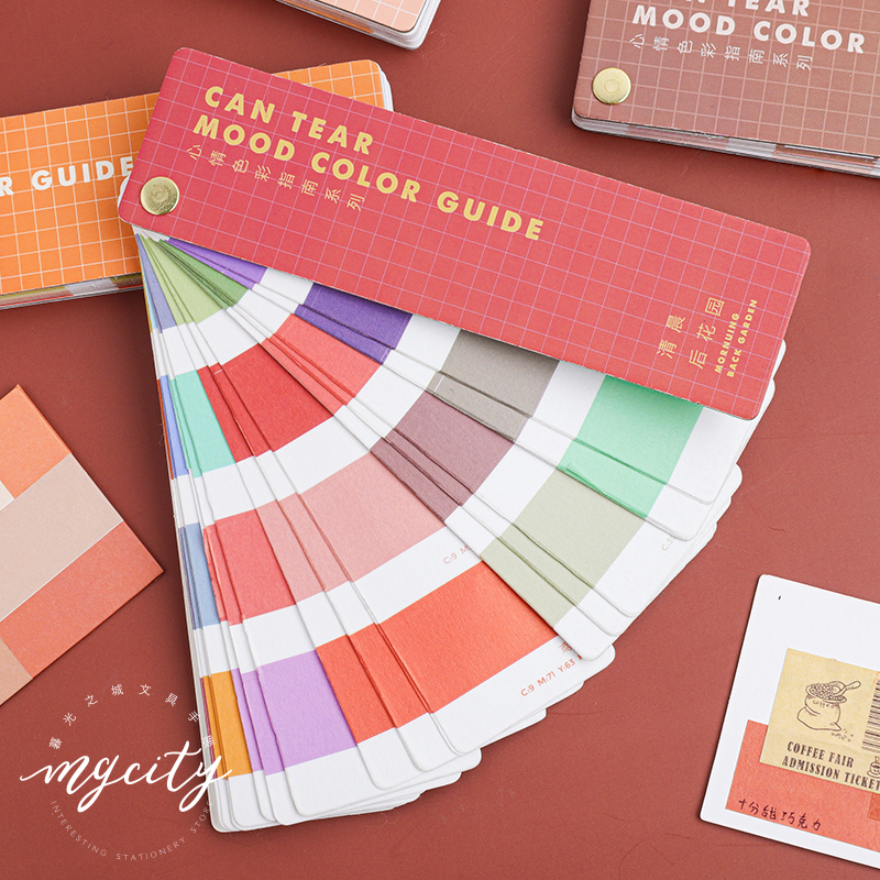 Can Tear Mood Color Guide Series Bullet Journal Decorative Stickers Book Scrapbooking Stick Label Diary Stationery Album Sticker