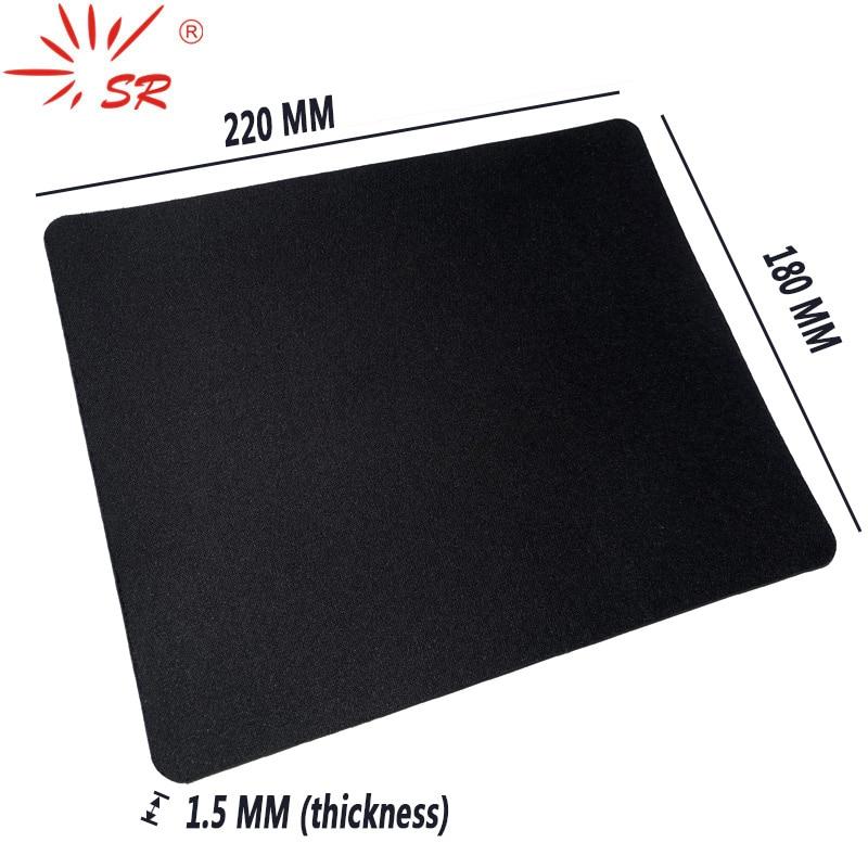 SR High-Quality 18*22*1.5cm Black Desk Mat Mouse Pad Boundless Design Non-Slip for Computer Tablet Laptop Accessories