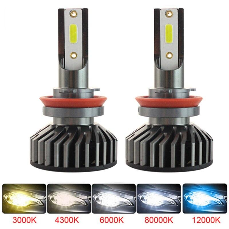 CANBUS H1 H3 H4 H7 H11 9005 9006 H27 Car Auto Motocycle LED Mini Car Headlight Bulbs Hi-Lo Beam Moto 6000K 3000K 8000K 4300K