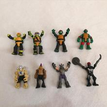 50PCS/lot pvc Toy Action Figures 3cm Turtle Capsule Toys Gift Ornament Decoration Cartoon Anime Brinquedos Birthday Gift