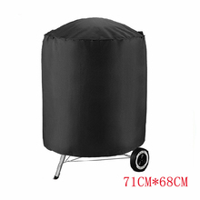 BBQ Grill Cover Outdoor Dustproof Waterproof Home Garden Anti Dust Rain Barbeque Grill Protective Cover Oxford Cloth Black New недорого