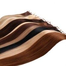 Saç ekleme insan saç makinesi Remy görünmez cilt atkı yapışkan 2.5 g/adet 16 18 20 22 inç bant saç uzatma 20 adet