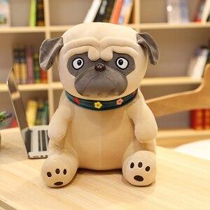 Plush Pug Toys Simulation Dog Doll Soft Stuffed Animal Shar Pei Pug Plush Pillow Kids Toy Soft Lifelike Cartoon Dolls Girl Gift(China)
