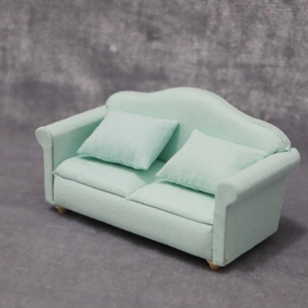 1:12 Dollhouse Miniature Furniture Fabric Single Sofa For Living Bedding Room ^