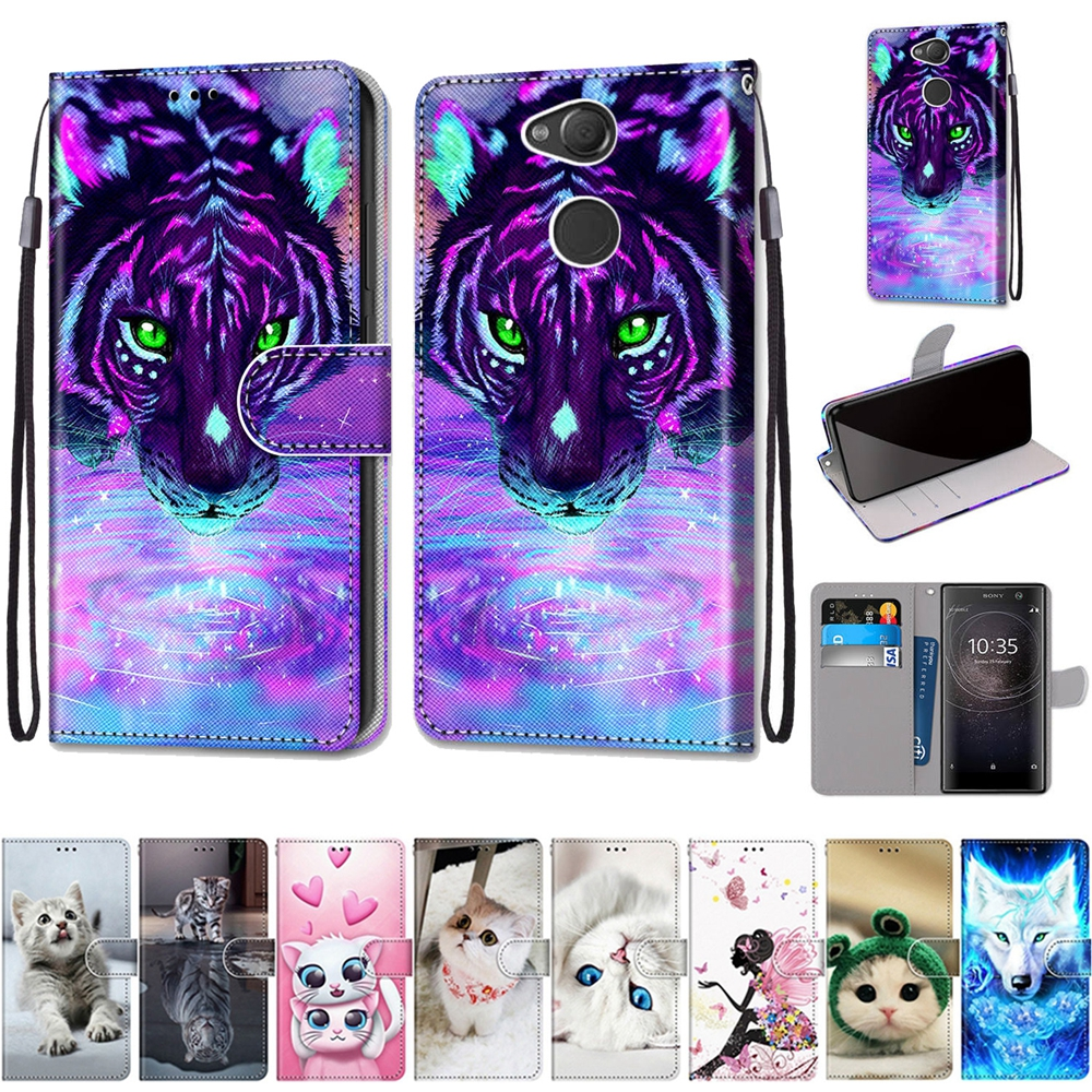 Flip <font><b>Cover</b></font> on for <font><b>Sony</b></font> <font><b>Xperia</b></font> XA2 Plus <font><b>Case</b></font> for <font><b>Sony</b></font> XA2 XA1 Plus XA X L2 L3 <font><b>10</b></font> <font><b>Case</b></font> Wallet Magnetic Leather Phone <font><b>Case</b></font> Coque image