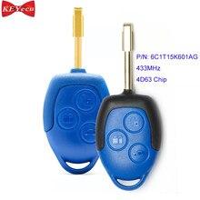 KEYECU для Ford Transit 2006 2007 2008 2009 2010 2011 2012 2013 2014 433 2015 дистанционный ключ МГц 4D63 чип P/N: 6C1T15K601AG