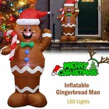 Eu-Us-Plug Xmas Decoration Christmas-Outdoors-Ornaments Party Santa-Claus Inflatable