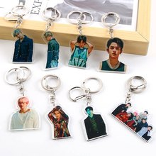 KPOP Super M New Album Jopping Super M Acrylic Key Chain Key Ring KAI LUCAS TAEMIN TAEYONG BEAKHYUN TEN MARK Bag Accessories(China)