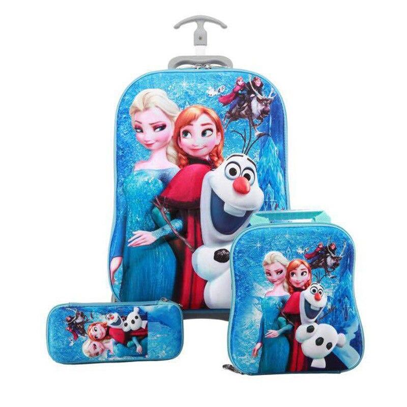 Sac d'école pour enfants valise de voyage pour filles enfants roulant sacs de voyage sac à dos d'école avec roues sac à roulettes