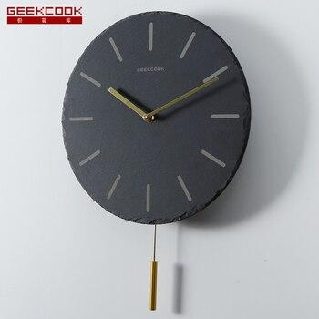 Modern Pendulum Clock Wall Clock Creative Living Room Home Decor Large Pow Patrol Mute Clocks Home Bedroom Relogio Parede
