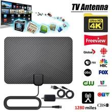 4K dijital anten TV kapalı HDTV antenler ile hava amplifikatör sinyal güçlendirici 1280Miles HDTV anten televizyon anten