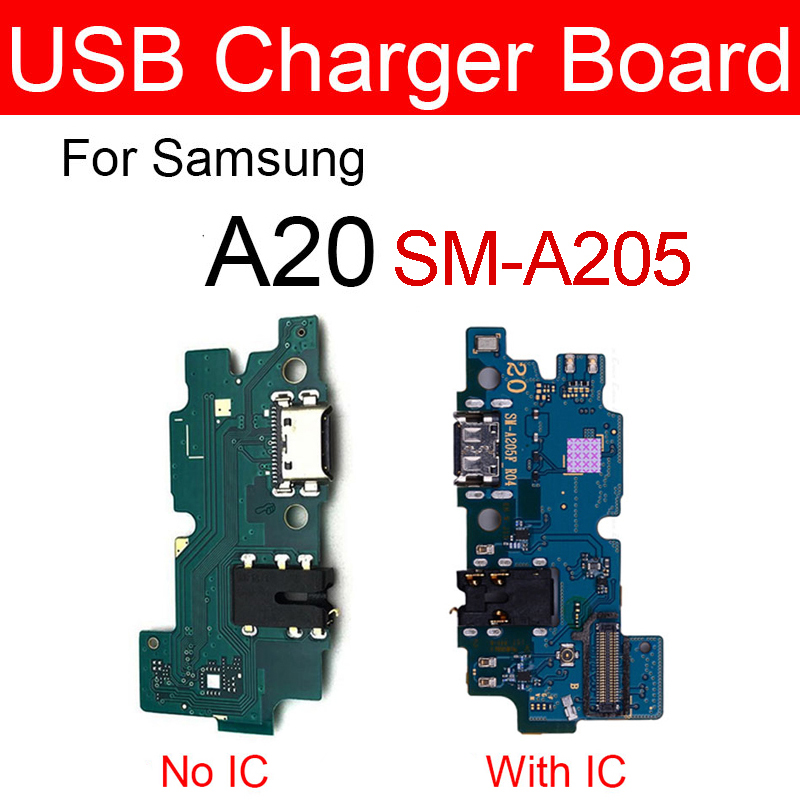 Charger USB Jack Board For Samsung Galaxy A20 SM-A205FD A205FD Charging Port Module Usb Connector Board Replacement Repair Parts