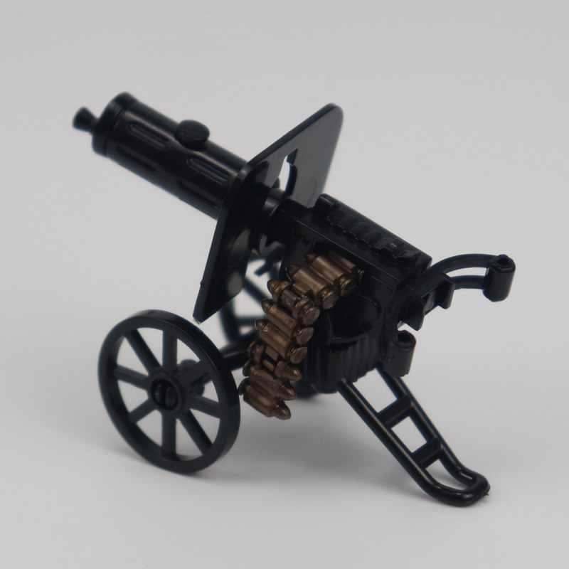 Juegos Militares Creator juguetes y pasatiempos regalos juguete para niños MPJ205 bloques de construcción máquina pistola negro modelo WW2 creativos militares