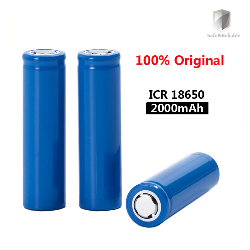2019 New Original <font><b>18650</b></font> 3.7 v 2000 mah Rechargeable <font><b>Battery</b></font> ICR18650 <font><b>18650</b></font> LI-Ion <font><b>Batteries</b></font> image