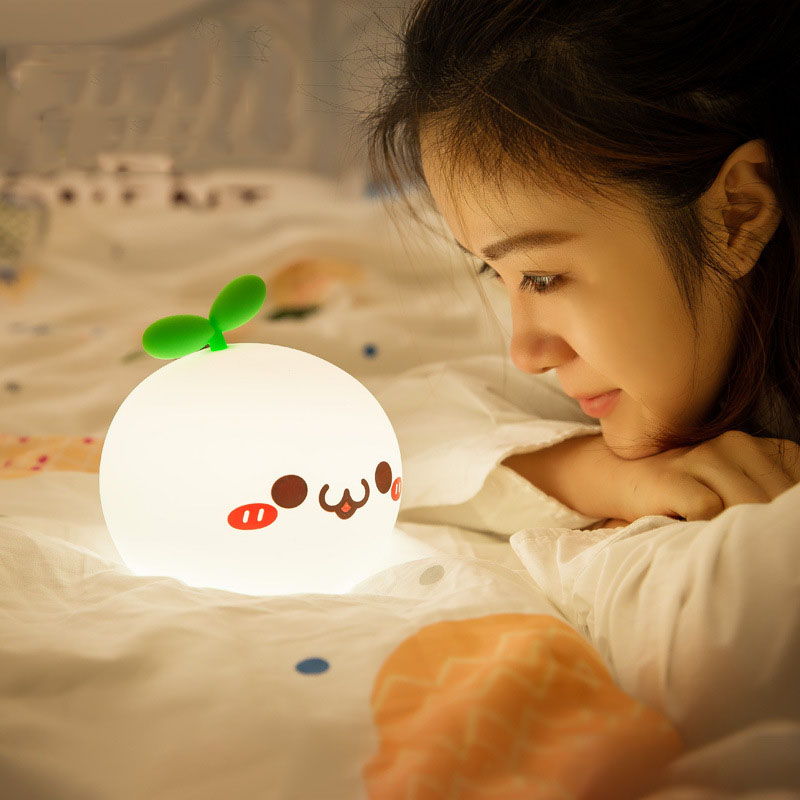 Christmas Decorate LED Lamp Desk Light Silica Cute Cartoon Colourful Intelligent Creative USB Night Light Lustre Luminaria