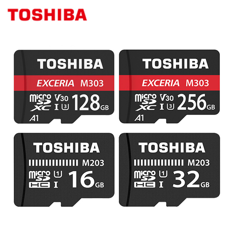 TOSHIBA Micro SD Card M203 16GB 32GB Class10 UHS-1 Memory Card M303 64GB 128GB 256GB 98MB/s Flash Card Memory Microsd TF/SD Card